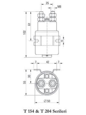 Ravioli T 154, T 204 Single Pole DC Contactor