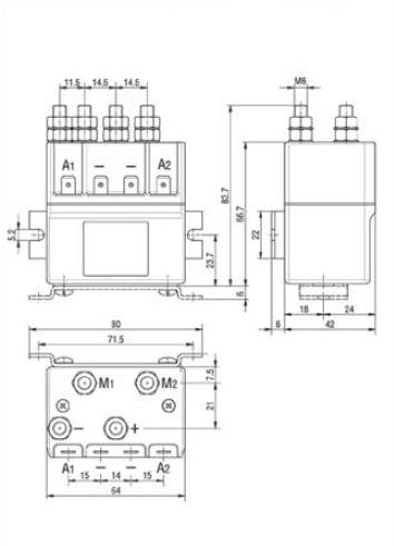 Ravioli TLD 18 Type DC Contactor