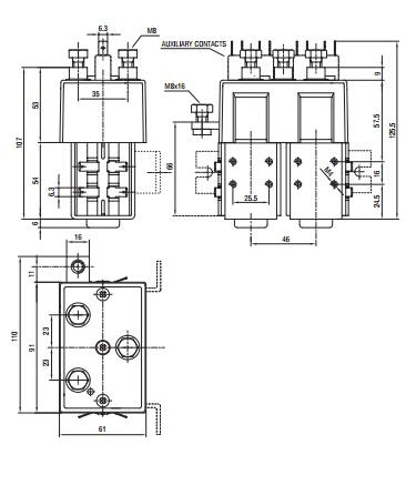 Ravioli TLD 48 Type DC Contactor
